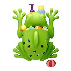 Bet this Boon Frog Pod Drainable Bath Scoop and Toy/Organizer makes bath time fun! Kids Bathroom Accessories, Baby Shower Gifts, Baby Gifts, Bath Toy Storage, Bathtub Walls, Toy Organization, Bath Toys, E Design, Kids Toys