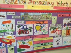 On the farm display using Twinkl's Arabic translated resources