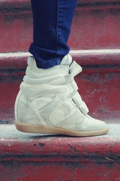 this style is growing on me...Isabel Marant Sneaker Wedges