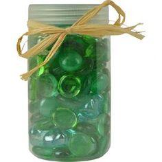 Beach Glass Jar Decor in Green (Set of 4)