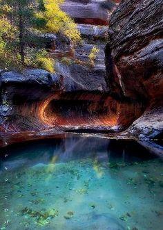 Pool of Hope. Zion National Park, Utah by janine