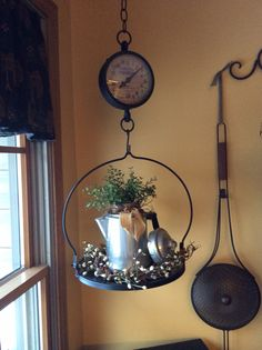 Primitive hanging scale! Primitive decor!