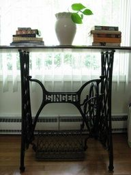 Singer sewing machine antique table