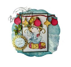 The above Christmas Fairy  creation was coloured with my Graph'it Markers.       This cute little bag was decorated up using pre~coloured...