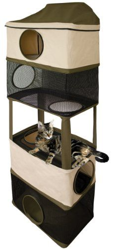 $111.47-$159.99 Ware Cat Tower Hideout - Six luxurious levels of living space in a stylish space-saving skyscraper design http://www.amazon.com/dp/B002ZSPO10/?tag=pin2pet-20