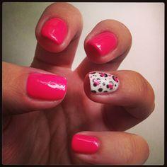 Hot Pink Leopard Gel Nail Polish
