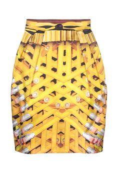 Tendencia camisetas de grupos mas faldas joya: falda de Mary Katrantzou