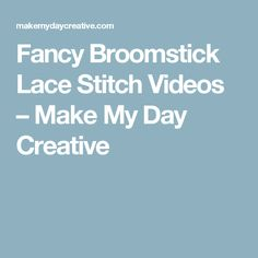 da8bfbc7ca736 Crochet broomstitck lace without broomstick - YouTube | youtub ...