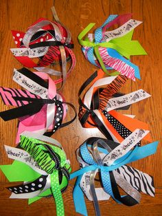 Custom sports ponytail streamers Great for by doodlegirls on Etsy, $5.50