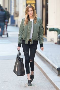 Yoy Can Call Me Maverick | Katie Cassidy Street Style