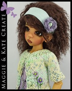 "MINT & LILAC Spring Outfit for Kaye Wiggs 18"" MSD BJD by Maggie & Kate Create"