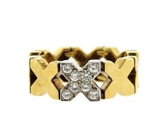 c662195fe Tiffany & Co 18k Gold X Diamond Ring Featured in our upcoming auction on  March 16