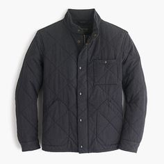 "The Sussex collection is how gentlemen dress for chilly weather. Thanks to the quilted construction and weather-resistant cotton-poly body, this jacket keeps you warm while nailing the ""I know how to handle myself outdoors"" look. <ul><li>Cotton/poly.</li><li>Standing collar.</li><li>Hidden zip with snap closure.</li><li>Chest pocket, waist pockets, interior patch pocket.</li><li>Lined.</li><li>Primaloft® insulation.</li><li>Machine wash.</li><li>Import.</li></ul>"