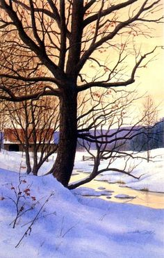 Cades Cove December.... by Jim Gray.....  Limited Edition Lithograph 1500 numbered and signed by Jim Gray 13 1/2 x 21 FREE SHIPPING