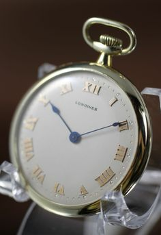 1917 Longines 14K  Solid Gold Case, Pocket Watch