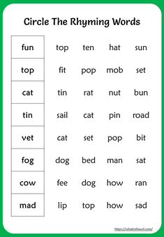Rhyming Words Worksheet for Grade - Your Home Teacher English Grammar For Kids, English Phonics, Learning English For Kids, English Lessons For Kids, English Vocabulary Words, Rhyming Worksheet, Rhyming Activities, Phonics Worksheets, English Worksheets For Kindergarten