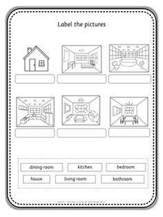Free worksheets for kindergarten parts of the house with english esl label the pictures ibookread ePUb
