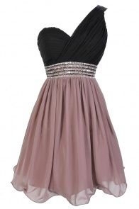 Prom light brown and black dress