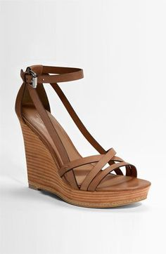 brown sandal wedges for work