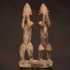 Nu in de #Catawiki veilingen: African tribal DOGON COUPLE. Dyougou Serou - Mali.