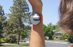 The WristView is an alternative to bike- and helmet-mounted mirrors- Yeah, I can see myself going 30 mph downhill and lifting my hand to get a glimpse...what do you think?