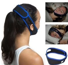 Snore Stop Belt Anti Snoring Cpap Chin Strap Sleep Apnea Jaw Solution TMJ for sale online Home Remedies For Snoring, Sleep Apnea Remedies, Falling Asleep At Work, How To Fall Asleep, Trying To Sleep, How To Get Sleep, Circadian Rhythm Sleep Disorder, What Causes Sleep Apnea, Snoring Solutions