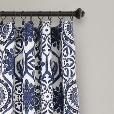 Curtains I Would Love To Tie In This Color Blue With The