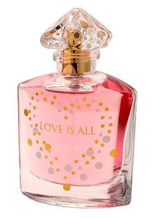Love is All by Guerlain is a sweet, powdery, tropical Floral Fruity fragrance with passionfruit, pink peppercorn and mandarin orange in the top. Mimosa, iris, orange blossom, freesia and neroli in the middle. Nutmeg, amber, musk, vanilla and woody notes in the base. - Fragrantica