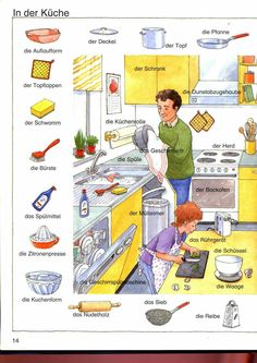 Learn German in the kitchen – almand – Mensch