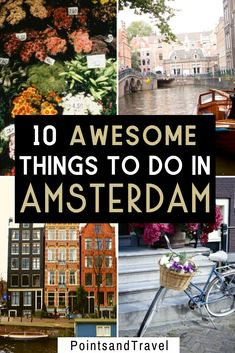10 Awesome Things to Do in Amsterdam, Plus Places to Stay! - 10 Awesome Things to do in Amsterdam. Check out this ultimate guide to Amsterdam for first time visitors! My list of all the things you cannot miss when visiting Amsterdam. Amsterdam Itinerary, Amsterdam Travel Guide, Europe Travel Guide, Backpacking Europe, Asia Travel, Travel Usa, Travel Packing, Travel Backpack, Solo Travel