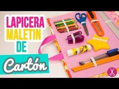 Lapicera / Estuche Maletín de Cartón | ✐ Manualidades Regreso a Clases ✄ | Cartonaje Catwalk ❤ - YouTube