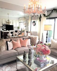 28 Cozy Living Room Decor Ideas To Copy. Recreate this grey and pink cozy living room decor Here are 28 cozy living room decor ideas and everything you need to recreate these cozy living room vibes in your apartment. Glam Living Room, Living Room Decor Cozy, Home And Living, Living Room Furniture, Modern Living, Small Living, Luxury Living, Rustic Furniture, Cozy Room