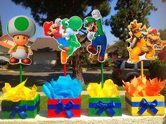 Mario Bros Centerpiece with Mario Luigi by uniqueboutiquebygami, $67.00