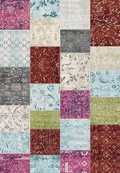 Red Barrel Studio Machias Patchwork Floor Cloth White/Pink Area Rug Rug Size: x Floor Cloth, Floor Rugs, Modern Carpet, Vinyl Flooring, Throw Rugs, Rugs On Carpet, Vintage Rugs, Belgium, Rug Size