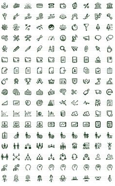 Busy Icons: Hand-drawn Office and Business Icons by Hatchers , via Behance