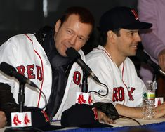 Donnie Wahlberg Jordan Knight Photos - NKOTB member Donnie Wahlberg (L) speaks as Jordan Knight smiles during a press conference on January 2011 at Fenway Park in Boston, Massachusetts. - New Kids On The Block & Backstreet Boys Press Conference Jonathan Knight, Danny Wood, Joey Mcintyre, Donnie Wahlberg, Jordan Knight, Backstreet Boys, Photo L, New Kids