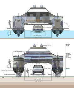 Diesel Fuel, Diesel Engine, 8 Passengers, Amphibious Vehicle, Electric Winch, Forged Steel, Steel Structure, Jet Ski, Catamaran