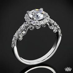 Vintage Wedding Ring - I'm in love...This is the most beautiful solitaire design I've ever seen. It looks like diamonds are dripping off the edges..