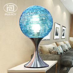 Cheap led desk light, Buy Quality desk light directly from China light office Suppliers: Bohemia Style Glass Ball Led Desk Light Office Study Bedside Decoration Table Lamps For Living Room