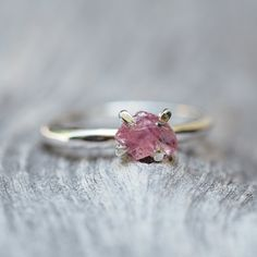 Rough Spinel Ring - Gardens of the Sun Jewelry    Those who drink from the fountain of life know the taste of spinel.