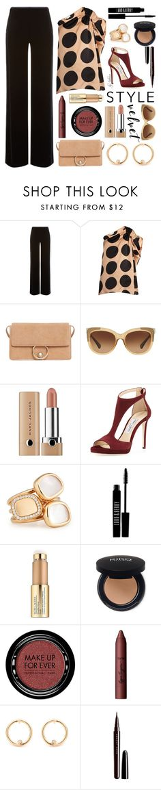 """""""218. Crushing It: Summer to Fall Velvet"""" by xiandrina ❤ liked on Polyvore featuring Armani Collezioni, STELLA McCARTNEY, MANGO, Coach, Marc Jacobs, Jimmy Choo, Roberto Coin, Lord & Berry, Estée Lauder and MAKE UP FOR EVER"""