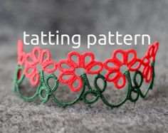 PDF Swirl earrings tatting pattern by by littleblacklace on Etsy