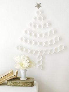 kerstboom van cupcake papiertjes.