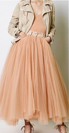 Jean Paul Gaultier, resort 2014, normally hate peach but can't help loving this.