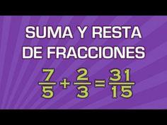 Suma y resta de fracciones - Aritmética - Educatina