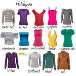 halslijnen Welke kleding past bij je figuurtype. #figuurtype www.coloru.nl