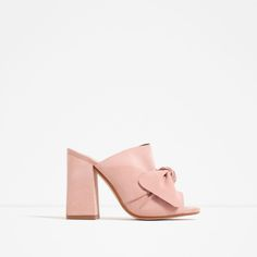 !!!!!!! Image 1 of LEATHER SLINGBACK HIGH HEEL SHOES WITH BOW from Zara