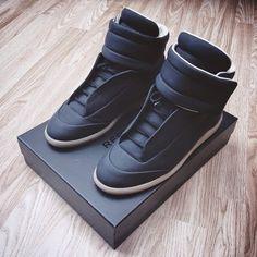 MAISON MARTIN MARGIELA Black Future Sneakers   2015 Collection Online   Givenchy, Saint Laurent, Giuseppe Zanotti, Balmain   SPENT MY DOLLARS   2015 Fashion,Shoes,Bags