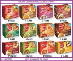 Ryvita healthy extra b astuce recette minceur girl world world recipes world snacks Slimming World Healthy Extras, Slimming World Syns List, Slimming World Survival, Slimming World Lunch Ideas, Slimming World Syn Values, Slimming World Treats, Slimming World Recipes Syn Free, Slimming Eats, Slimmers World Recipes