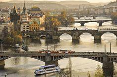 Czech Republic / Prague - The bridges by Manu Foissotte